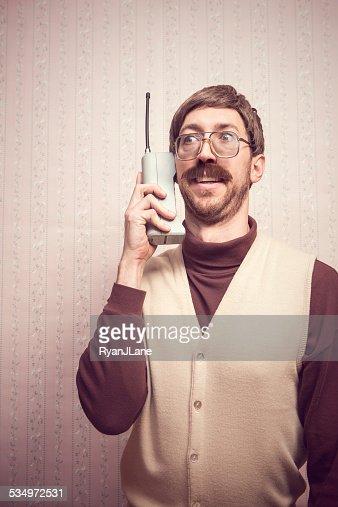 Brick Cell Phone Man