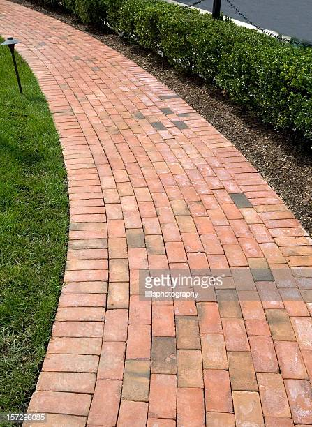 Brick Sidewalk in Suburbia