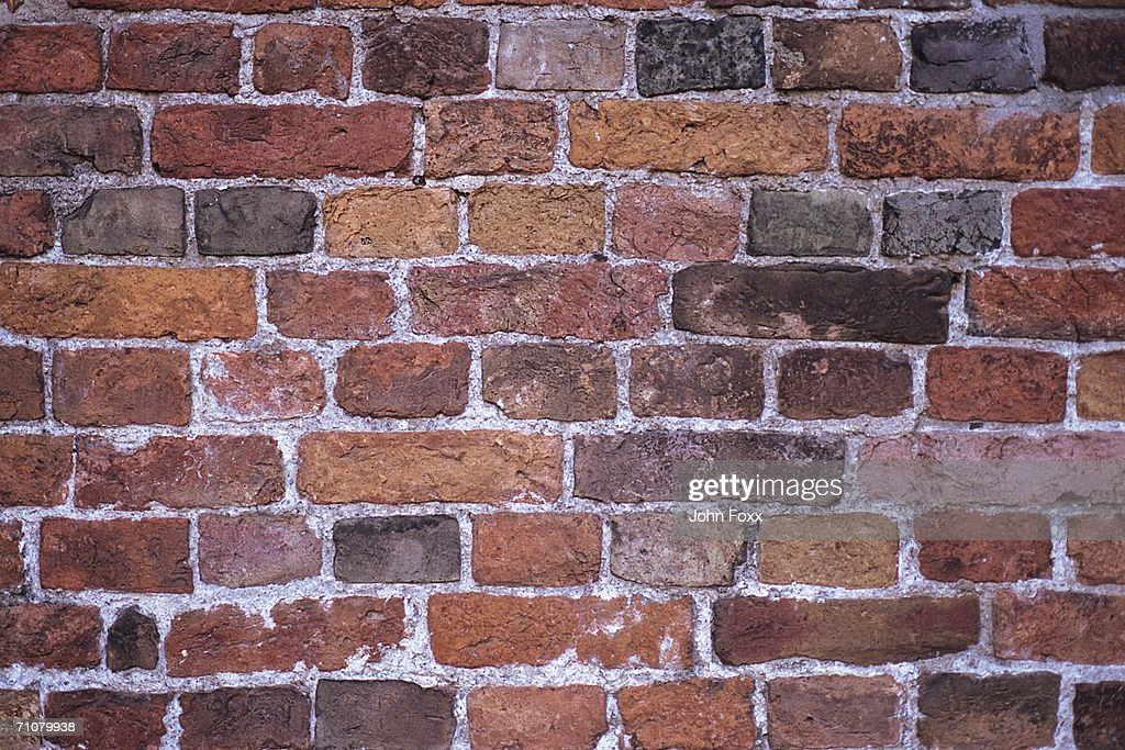Brick wall, full frame : Stock Photo