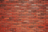Brick wall. New red brick wall
