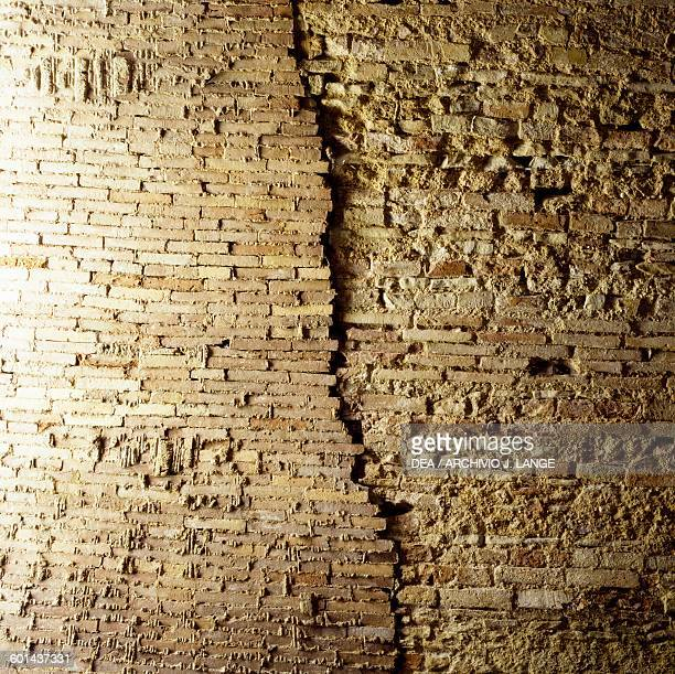 Brick wall Roman Baths Chieti Abruzzo Italy Roman civilisation 2nd century AD