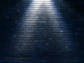 Brick wall texture background with spotlight