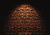 Brick wall texture backgrounds, with light spot