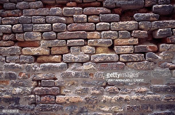 Brick wall Venice Veneto Italy