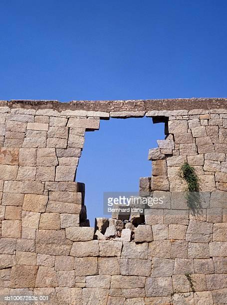 Brick wall with hole