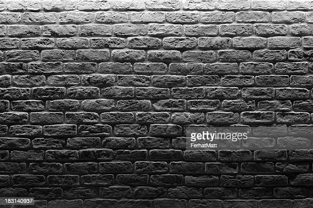 Brick Wall.White and Black