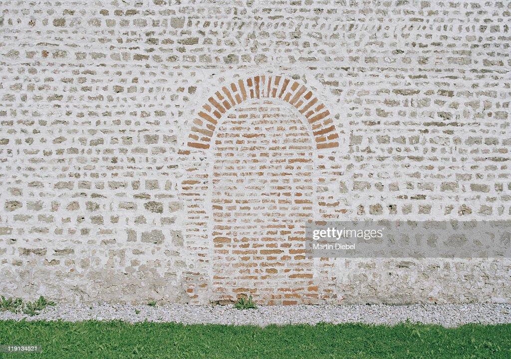 Bricked up doorway : Stock Photo