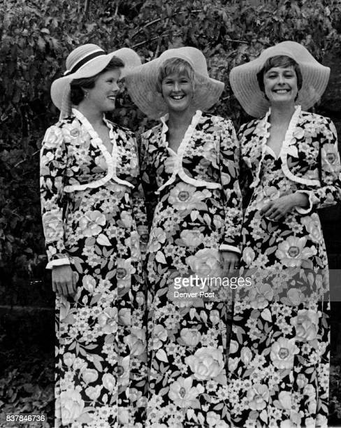 Bridal Attendants at Saturday Ceremony Bridesmaids for the Saturday wedding ceremony of Miss Eugenie M Mitchell and Stephen Waters were from left Mrs...