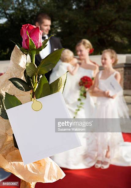 A bridal couple with children Sweden.