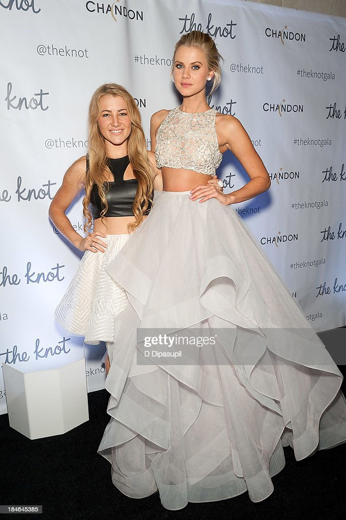 Bridal designer Hayley Paige (L) attends The Knot Gala at the New York Public Library - Astor Hall on October 14, 2013 in New York City.