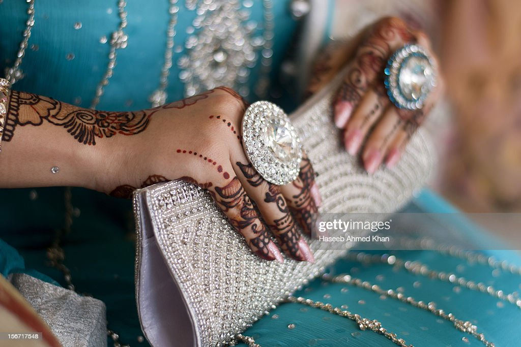 Bridal hands : Stock Photo