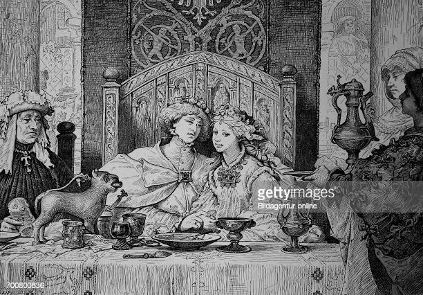 Bridal meal At a noble family in the Middle Ages