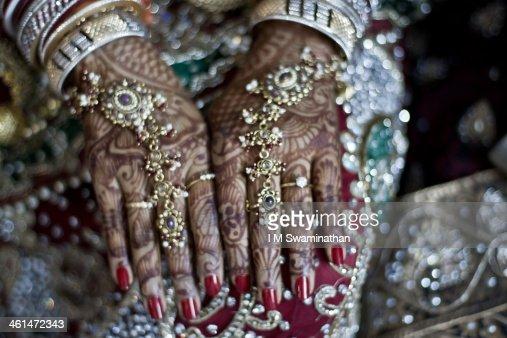 Bridal Mehndi : Stock Photo