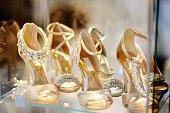 Elegant bridal or ballroom dance shoes. Bridal shopping