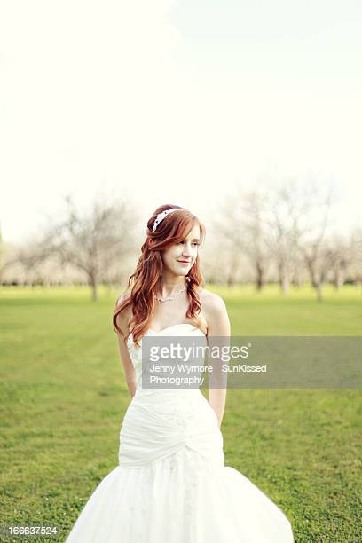 Bridal portrait in wedding gown.