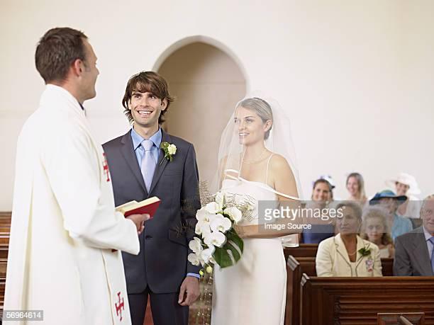 花嫁と花婿の結婚している