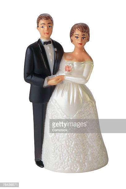 Bride and groom cake decoration figurines