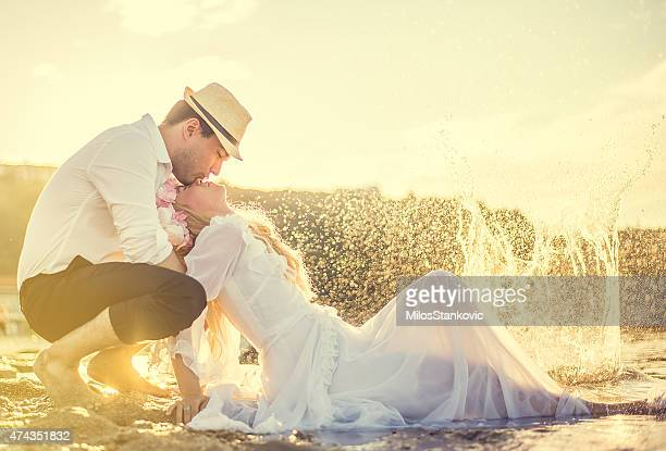 Bride and Groom enjoying in their love