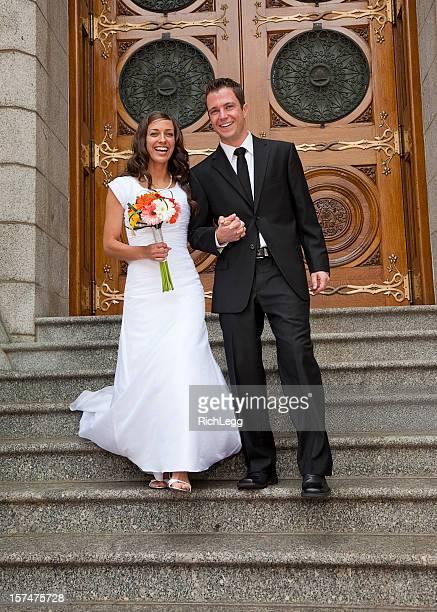 花嫁と花婿の既存の教会