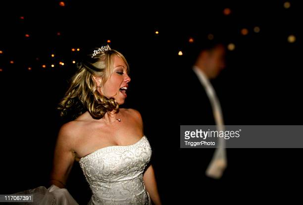 Bride and Groom Fun Dancing Wedding Reception