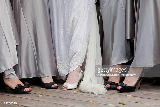 Bride & bridesmaids feet