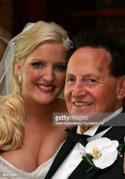Bride Brynne Gordon and groom Geoffrey Edelsten pose for a photograph after the wedding of Geoffrey Edelsten and Brynne Gordon at Crown Palladium on...