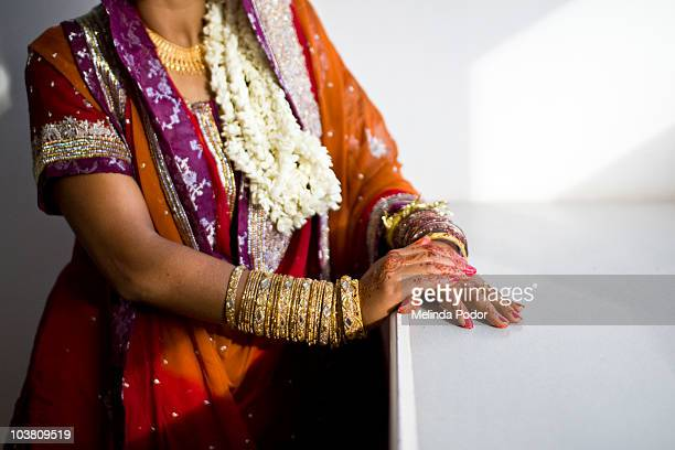Bride dressed for wedding ceremony