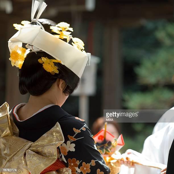 Bride dressed in kimono