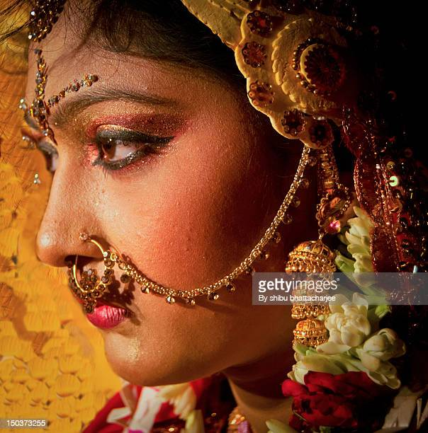 Bride eyes connect with her groom