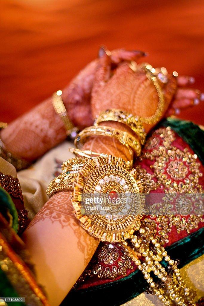 Bride Hand : Stock Photo