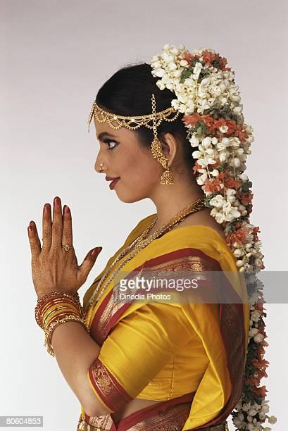 Bride in South Indian attire