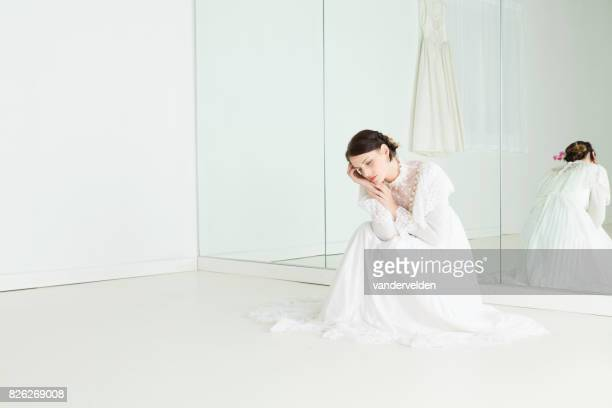 Bride in the dress shop