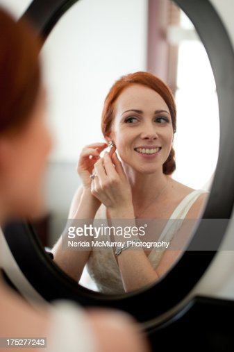 Bride preparing : Stock Photo