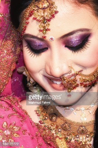 Bride smiling : Stock Photo