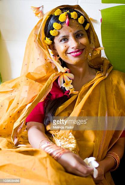 Bride to be, after turmeric ceremony