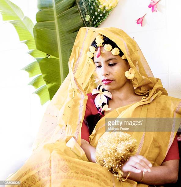 Bride to be at turmeric ceremony