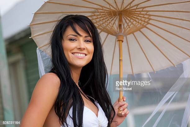 A bride with a parasol