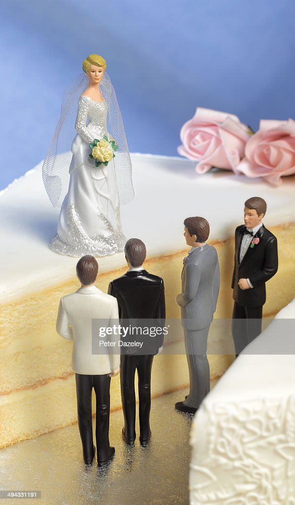 Bride with excess and choice : Stock Photo