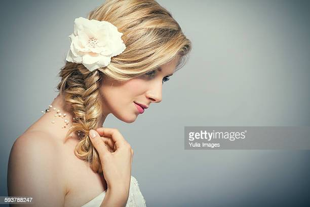 Bride with Flower in Hair