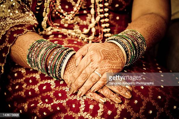 Bride with henna tattoos