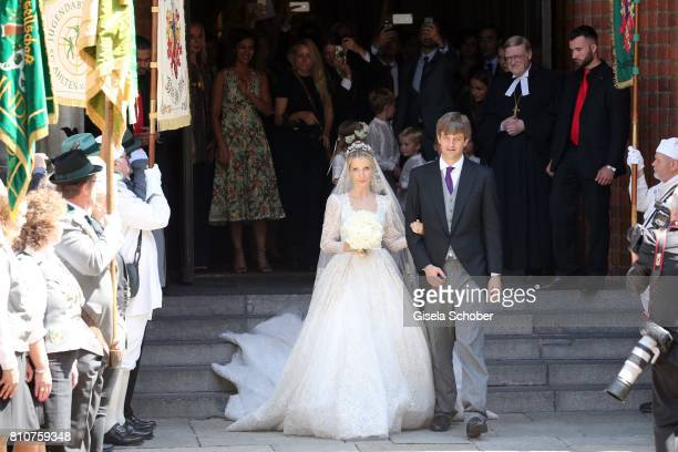 Bridegroom Crown prince Ernst August of Hanover jr and his wife Ekaterina Malysheva during the wedding of Prince Ernst August of Hanover Duke of...