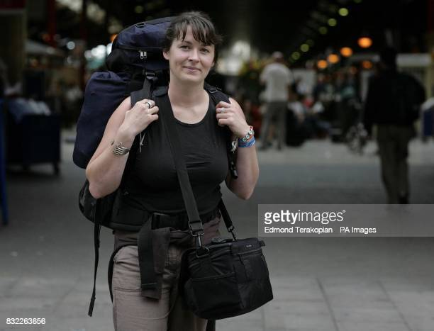 Bridemaidtobe Barbara Haddrill at Marylebone Station in London before setting off for a friend's wedding in Brisbane Australia Haddrill will take a...