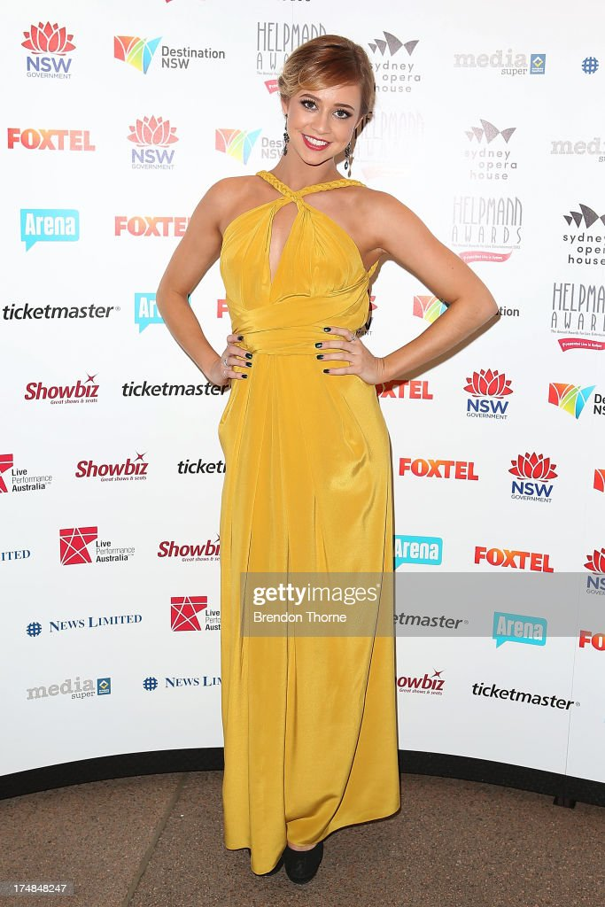 Briden Starr arrives at the 2013 Helpmann Awards at the Sydney Opera House on July 29, 2013 in Sydney, Australia.
