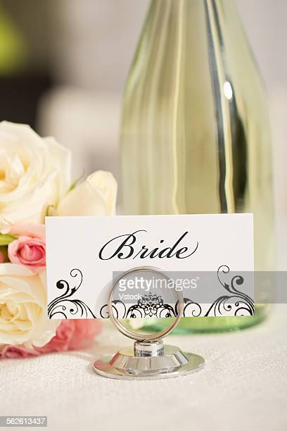 Brides place setting card