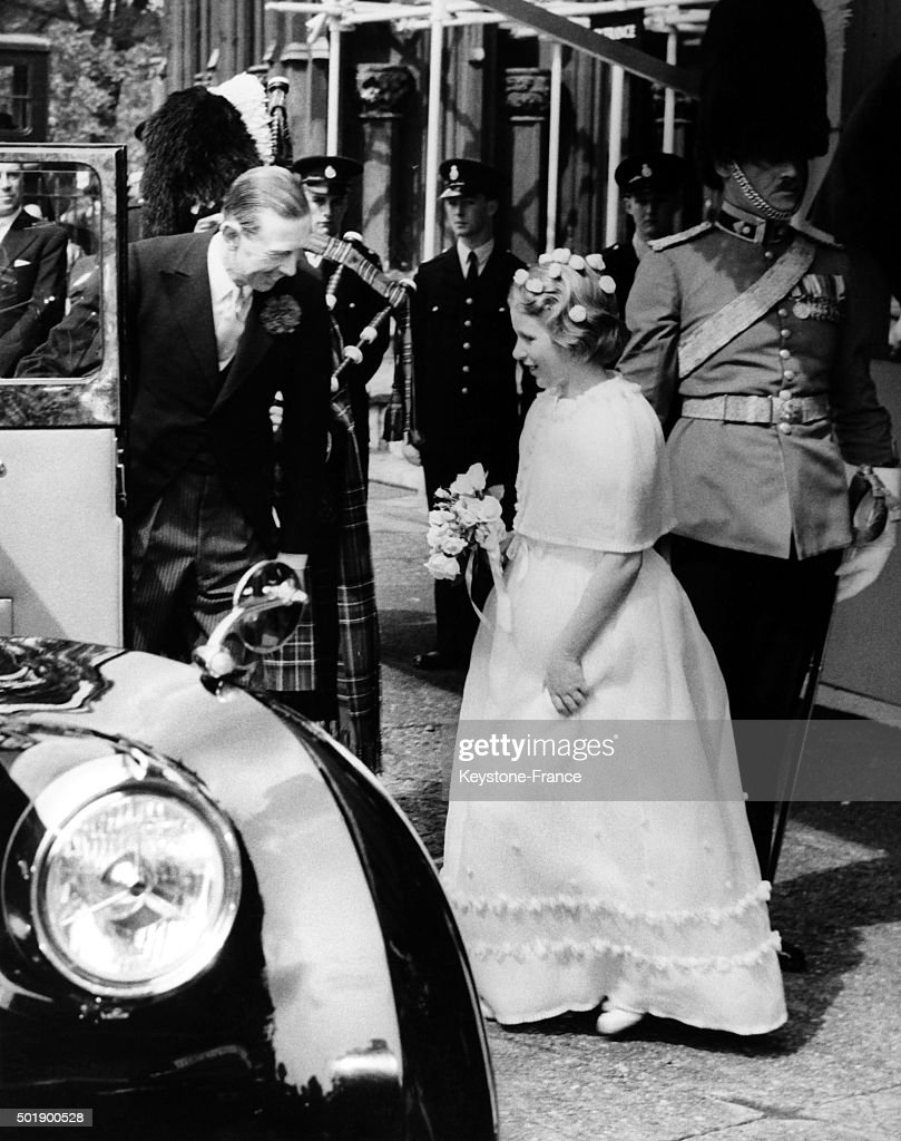 Princess Anne looked very pretty as a bridesmaid for Prince Edward, Duke of Kent and Katharine Worsley at their wedding in 1961. Photo: Keystone-France/Gamma-Rapho