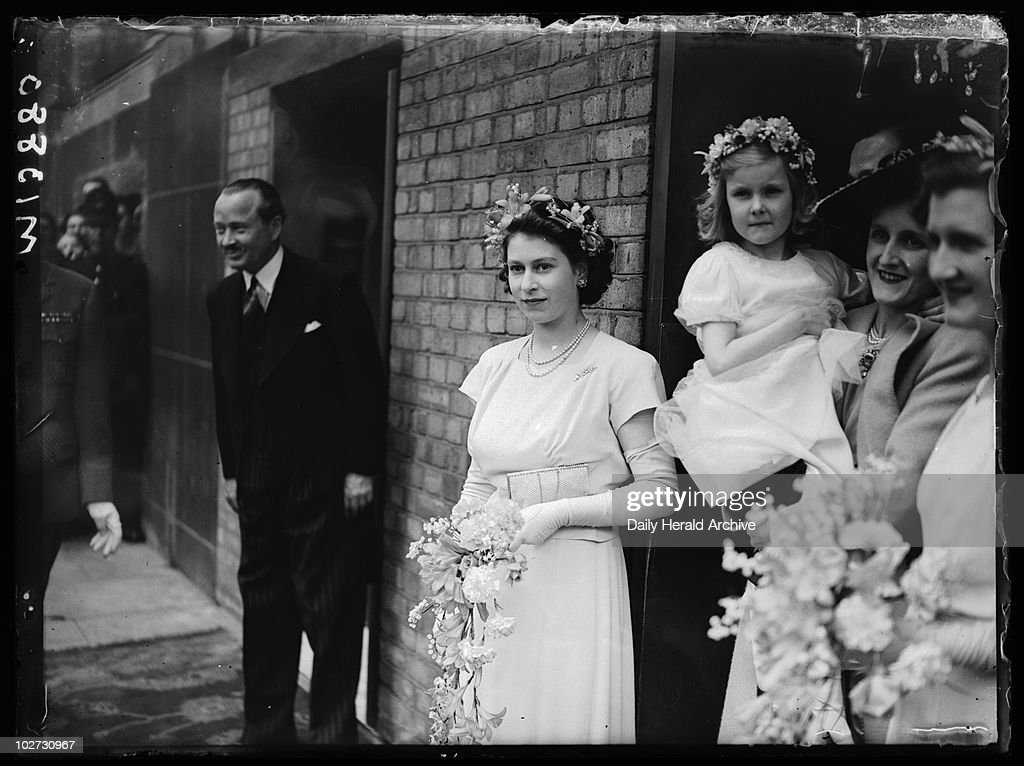 Her mother, now Queen Elizabeth, was a bridesmaid to Mrs. Vicary Gibbs and Captain Hon. A.G.V. Elphinstone, in 1946 shortly before her 20th birthday. Photo: Daily Herald Archive