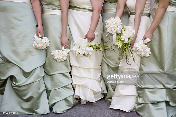 Bridesmaids and bouquets