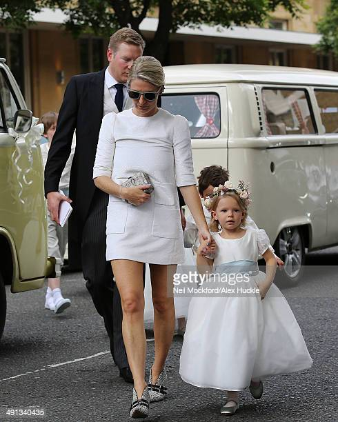 Bridesmaids arriving at the wedding of Poppy Delevingne and James Cook on May 16 2014 in London England