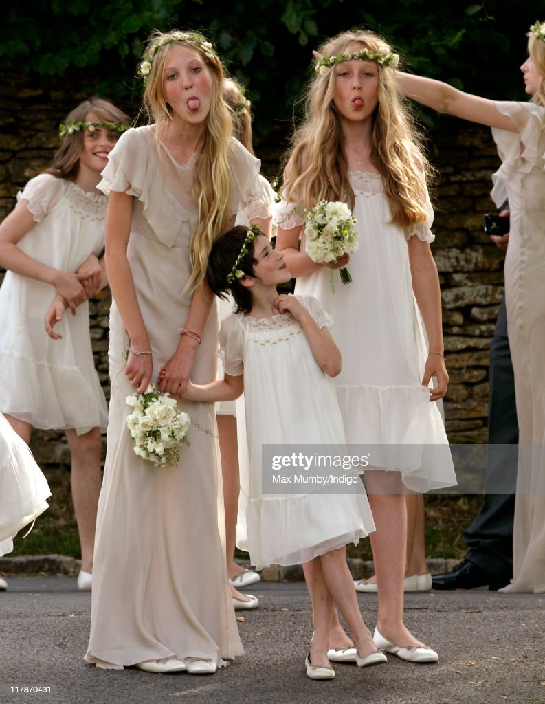 Kate moss and jamie hince wedding photos and images getty images bridesmaids at the wedding of kate moss and jamie hince at st peters church on junglespirit Gallery