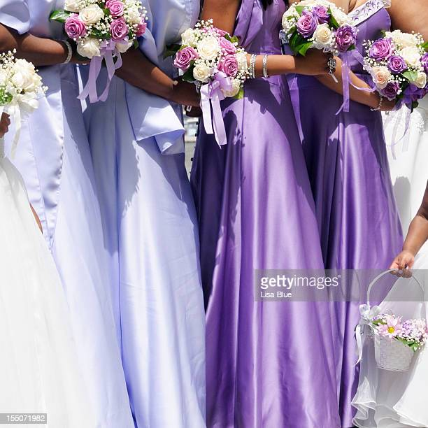 Bridesmaids at Wedding Ceremony,NYC.